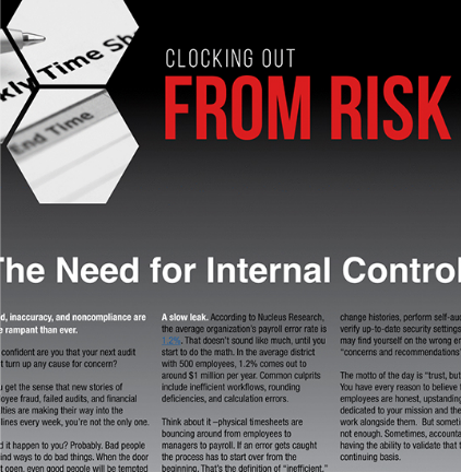 Clocking Out from Risk