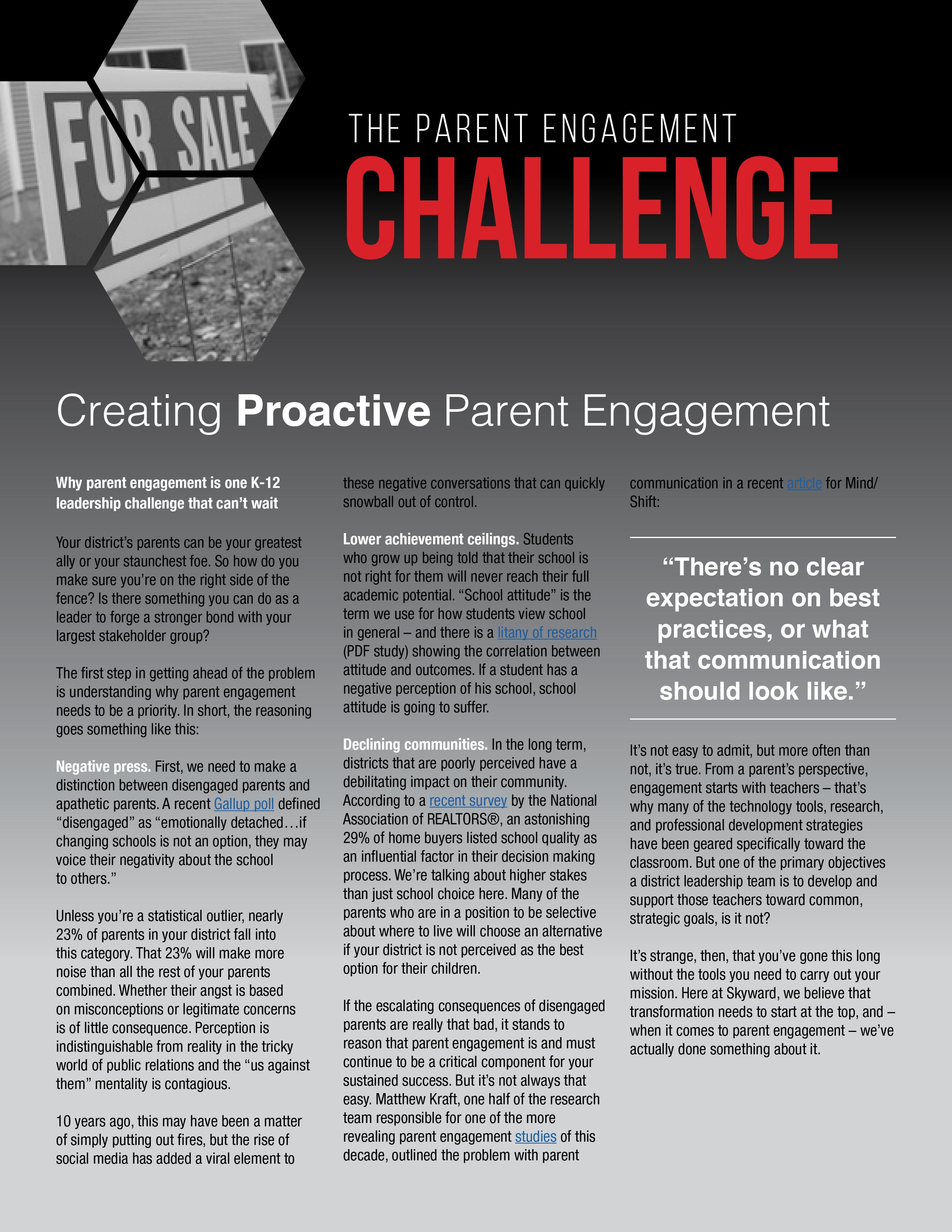 proactive parent engagement