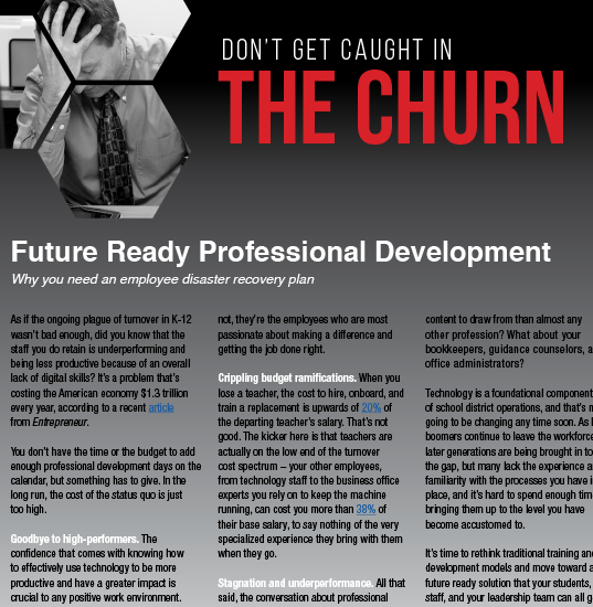 Don't Get Caught in The Churn