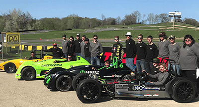 On the Road with Lauren: Race Cars Meet High School